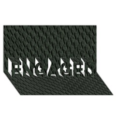 Dark Green Scales Engaged 3d Greeting Card (8x4)
