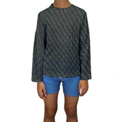 DARK GREEN SCALES Kid s Long Sleeve Swimwear