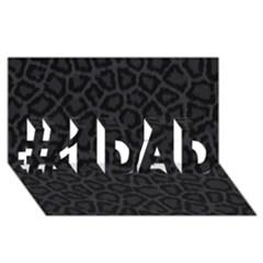 Black Leopard Print #1 Dad 3d Greeting Card (8x4)