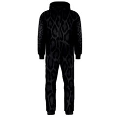 BLACK LEOPARD PRINT Hooded Jumpsuit (Men)