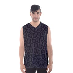BLACK LEOPARD PRINT Men s Basketball Tank Top