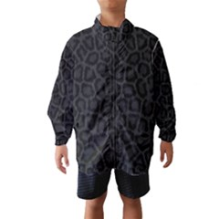 Black Leopard Print Wind Breaker (kids)