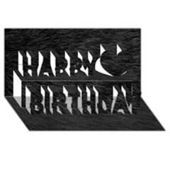 BLACK CAT FUR Happy Birthday 3D Greeting Card (8x4)