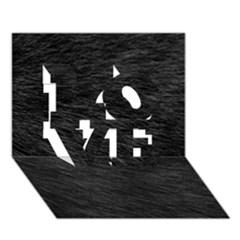 BLACK CAT FUR LOVE 3D Greeting Card (7x5)