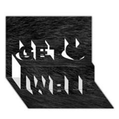 Black Cat Fur Get Well 3d Greeting Card (7x5)