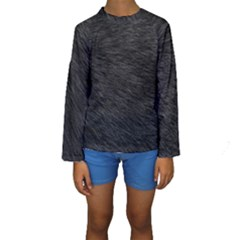 BLACK CAT FUR Kid s Long Sleeve Swimwear