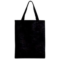 Black Cat Fur Zipper Classic Tote Bags
