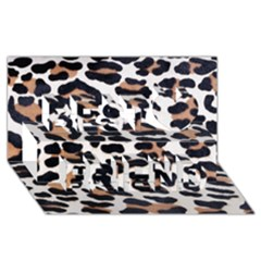 Black And Brown Leopard Best Friends 3d Greeting Card (8x4)