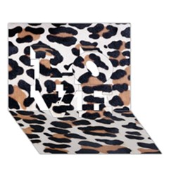 BLACK AND BROWN LEOPARD LOVE 3D Greeting Card (7x5)