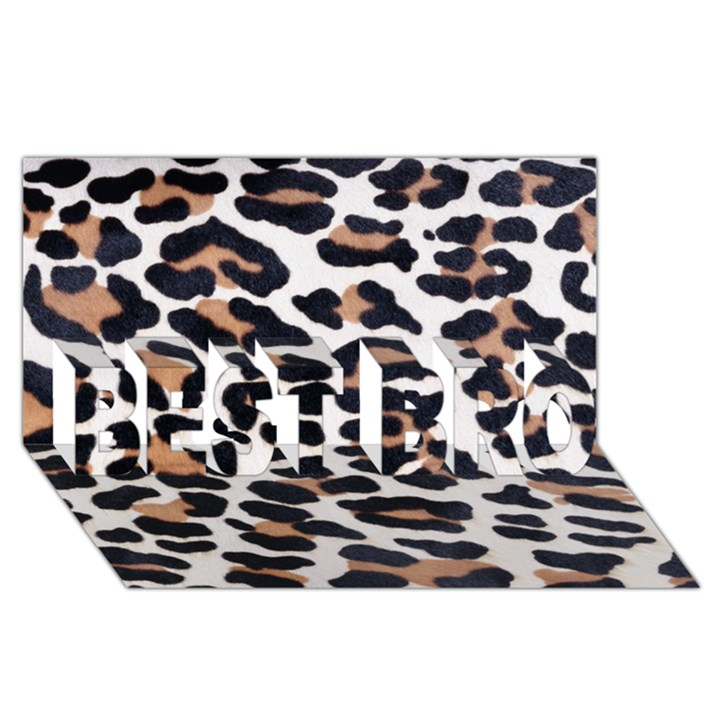 BLACK AND BROWN LEOPARD BEST BRO 3D Greeting Card (8x4)