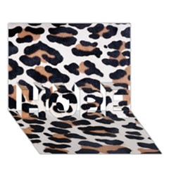 BLACK AND BROWN LEOPARD HOPE 3D Greeting Card (7x5)