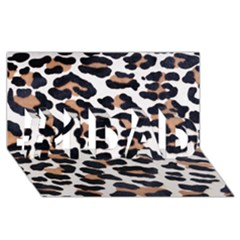 BLACK AND BROWN LEOPARD #1 DAD 3D Greeting Card (8x4)