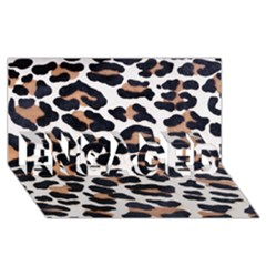 BLACK AND BROWN LEOPARD ENGAGED 3D Greeting Card (8x4)
