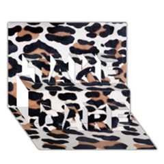 Black And Brown Leopard Take Care 3d Greeting Card (7x5)