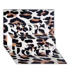 Black And Brown Leopard You Rock 3d Greeting Card (7x5)