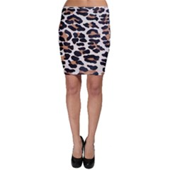 BLACK AND BROWN LEOPARD Bodycon Skirts