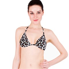 BLACK AND BROWN LEOPARD Bikini Tops