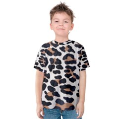 Black And Brown Leopard Kid s Cotton Tee