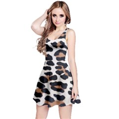 BLACK AND BROWN LEOPARD Reversible Sleeveless Dresses