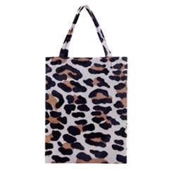 BLACK AND BROWN LEOPARD Classic Tote Bags