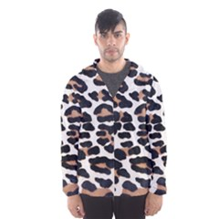 BLACK AND BROWN LEOPARD Hooded Wind Breaker (Men)