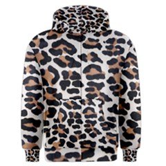 BLACK AND BROWN LEOPARD Men s Zipper Hoodies
