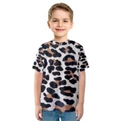 Black And Brown Leopard Kid s Sport Mesh Tees