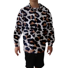 Black And Brown Leopard Hooded Wind Breaker (kids)