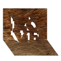 Bear Fur Love 3d Greeting Card (7x5)