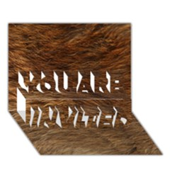 BEAR FUR YOU ARE INVITED 3D Greeting Card (7x5)