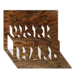 Bear Fur Work Hard 3d Greeting Card (7x5)