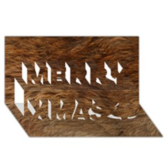 Bear Fur Merry Xmas 3d Greeting Card (8x4)