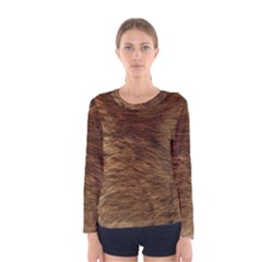 BEAR FUR Women s Long Sleeve T-shirts
