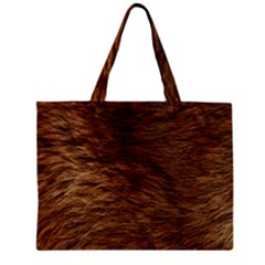 BEAR FUR Zipper Tiny Tote Bags