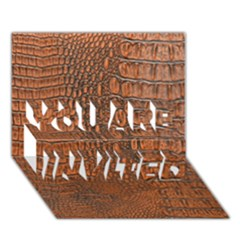 ALLIGATOR SKIN YOU ARE INVITED 3D Greeting Card (7x5)