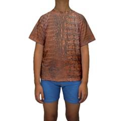 Alligator Skin Kid s Short Sleeve Swimwear