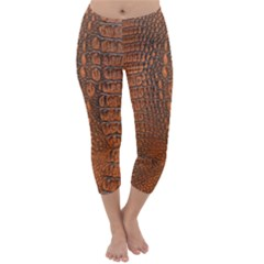 ALLIGATOR SKIN Capri Winter Leggings