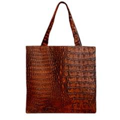 Alligator Skin Zipper Grocery Tote Bags