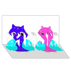 Owl couple  #1 MOM 3D Greeting Cards (8x4)