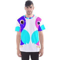 Owl couple  Men s Sport Mesh Tees