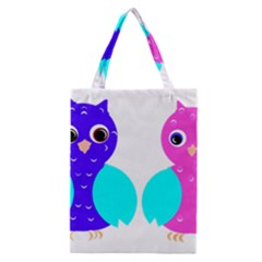 Owl couple  Classic Tote Bags