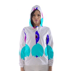Owl Couple  Hooded Wind Breaker (women)