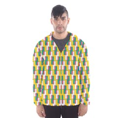 Connected rectangles pattern Mesh Lined Wind Breaker (Men)