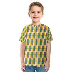 Connected rectangles pattern Kid s Sport Mesh Tee