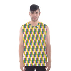 Connected rectangles pattern Men s Basketball Tank Top