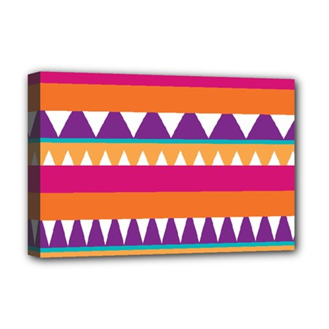 Stripes and peaks Deluxe Canvas 18  x 12  (Stretched)