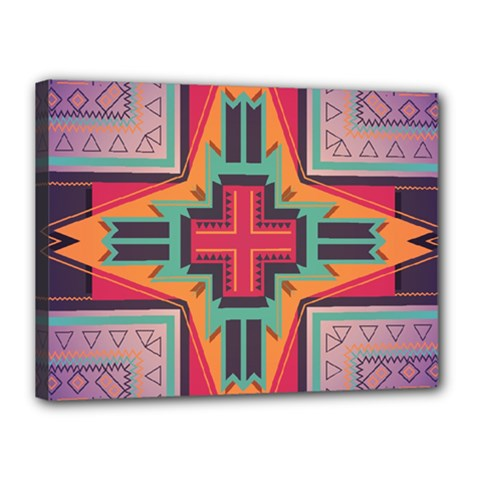 Tribal star Canvas 16  x 12  (Stretched)