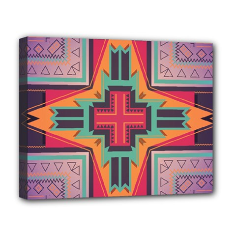Tribal star Deluxe Canvas 20  x 16  (Stretched)