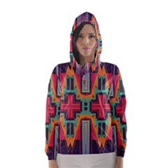 Tribal star Hooded Wind Breaker (Women)
