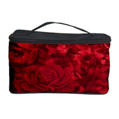 Red Tinted Roses Collage 2 Cosmetic Storage Cases